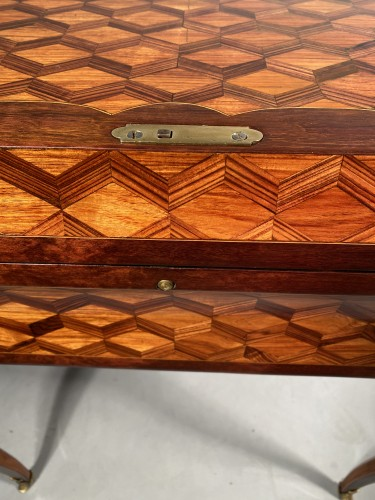 18th century - Travel backgammon table by Denizot circa 1770