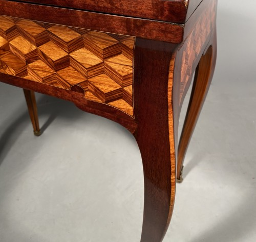 Louis XV - Travel backgammon table by Denizot circa 1770