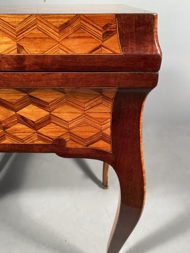 Antiquités - Travel backgammon table by Denizot circa 1770