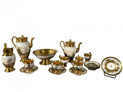 Porcelain coffee service by Marc Schoelcher circa 1820