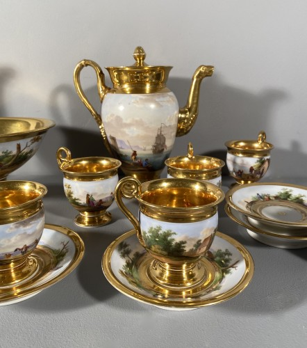 Porcelain coffee service by Marc Schoelcher circa 1820 -