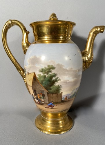 Empire - Porcelain coffee service by Marc Schoelcher circa 1820