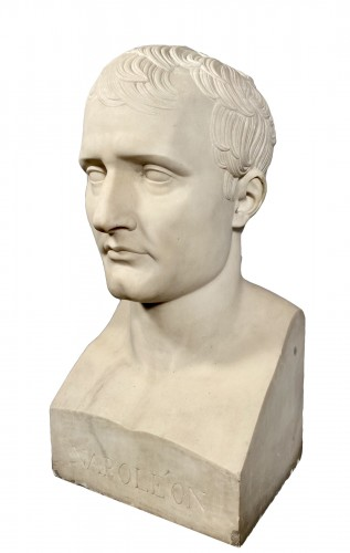 Marble bust of Napoleon in Hermes after Chaudet, Empire period.