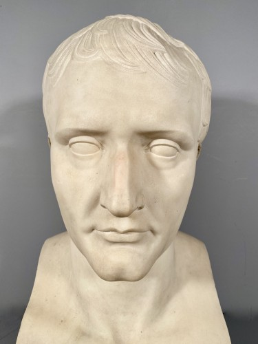 Marble bust of Napoleon in Hermes after Chaudet, Empire period. - Sculpture Style Empire