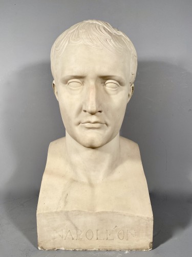 Sculpture  - Marble bust of Napoleon in Hermes after Chaudet, Empire period.