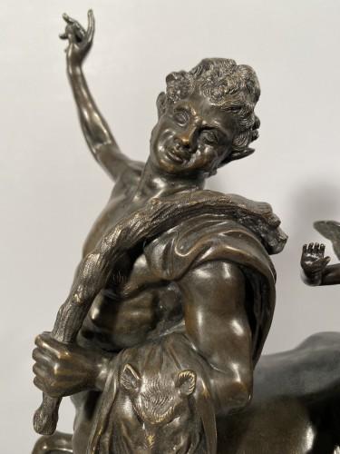 The Centaur Chiron Riding by Love, bronze circa 1820 - Sculpture Style Restauration - Charles X
