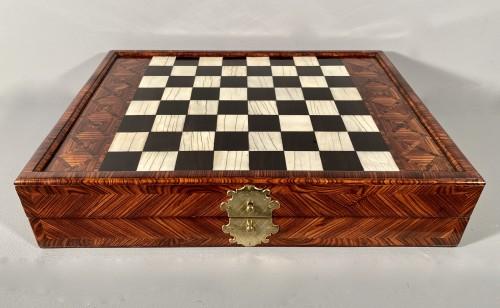 Chess and backgammon box, Augsburg around 1700 -