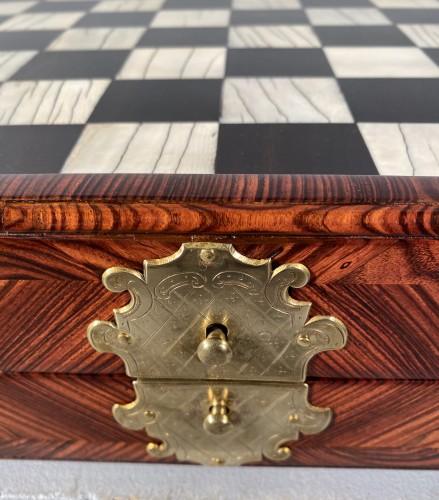 Chess and backgammon box, Augsburg around 1700 - French Regence
