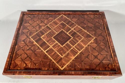 Antiquités - Chess and backgammon box, Augsburg around 1700