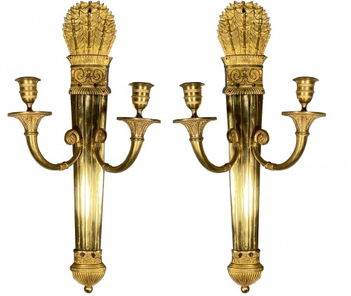 Pair of wall sconces with quivers, Paris around 1810