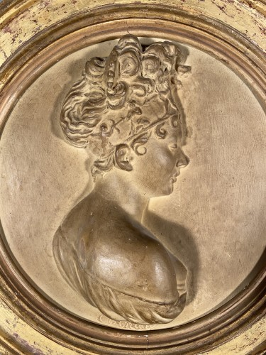 Juliette Récamier, terracotta, Atelier de Chinard circa 1800 - Sculpture Style Empire
