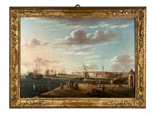 The port of Lorient according to Nicolas Ozanne around 1780