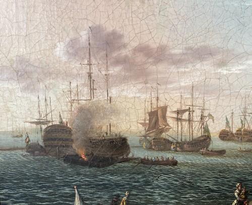 The port of Lorient according to Nicolas Ozanne around 1780 - Paintings & Drawings Style Louis XVI