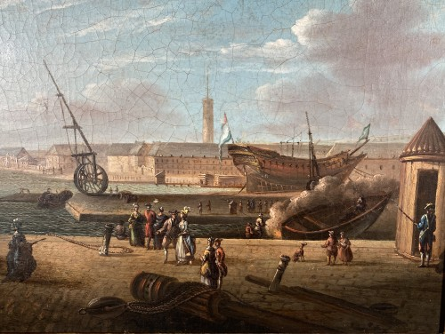 Paintings & Drawings  - The port of Lorient according to Nicolas Ozanne around 1780