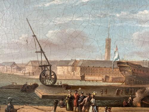 The port of Lorient according to Nicolas Ozanne around 1780 -