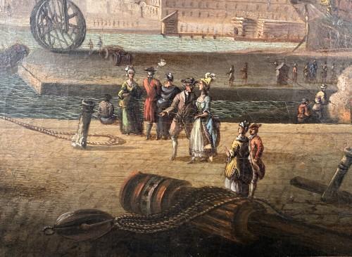 18th century - The port of Lorient according to Nicolas Ozanne around 1780