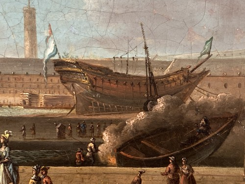 Louis XVI - The port of Lorient according to Nicolas Ozanne around 1780