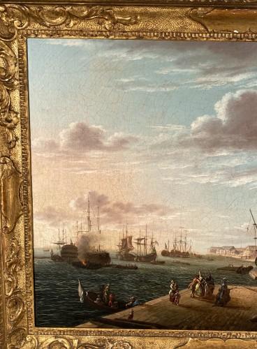 Antiquités - The port of Lorient according to Nicolas Ozanne around 1780