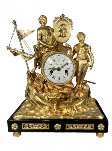 Clock with allegory of maritime trade, Paris around 1775