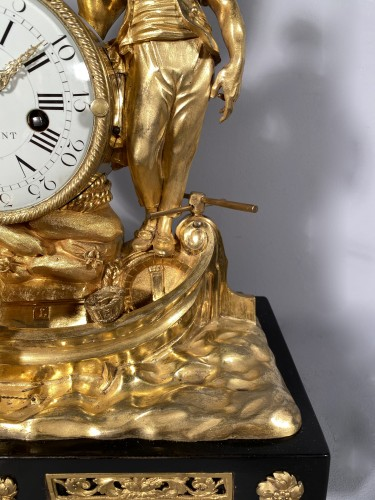 18th century - Clock with allegory of maritime trade, Paris around 1775