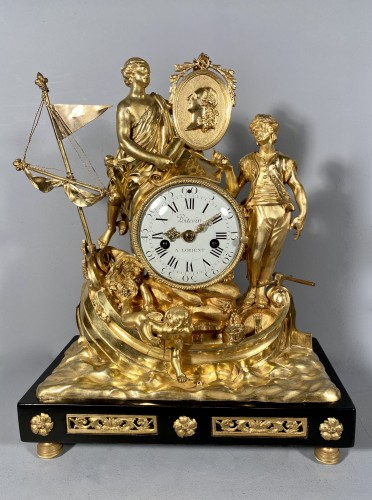 Clock with allegory of maritime trade, Paris around 1775 - Louis XV