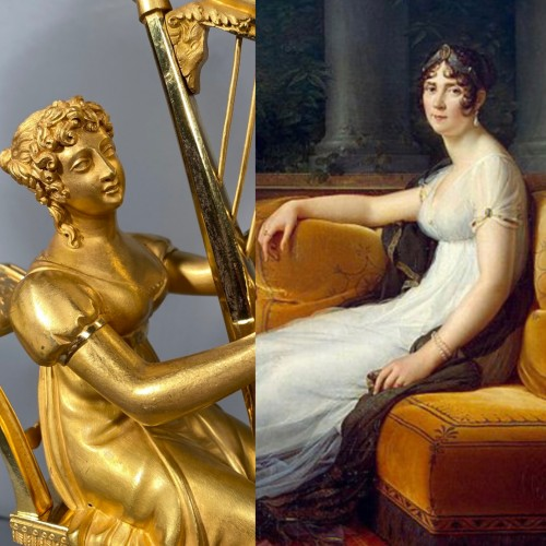 Joséphine harpist clock, Paris Empire period - Horology Style Empire