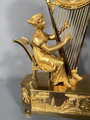 Horology  - Joséphine harpist clock, Paris Empire period