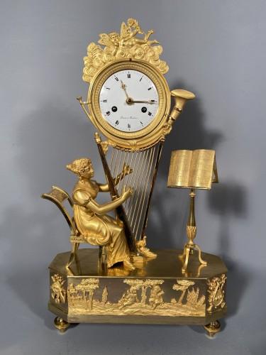 19th century - Joséphine harpist clock, Paris Empire period