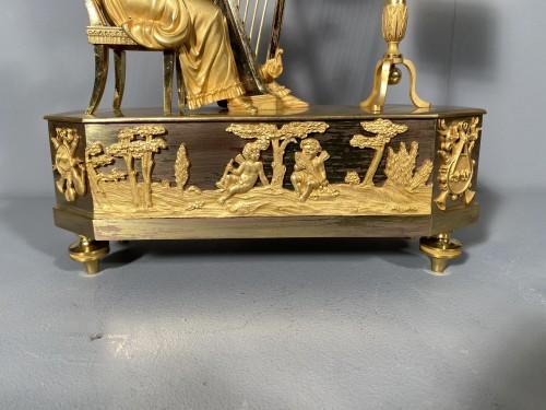 Joséphine harpist clock, Paris Empire period - Empire