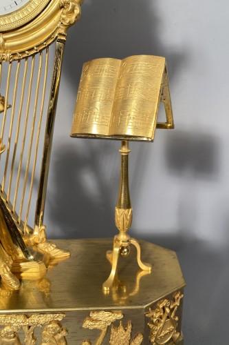 Empire - Joséphine harpist clock, Paris Empire period