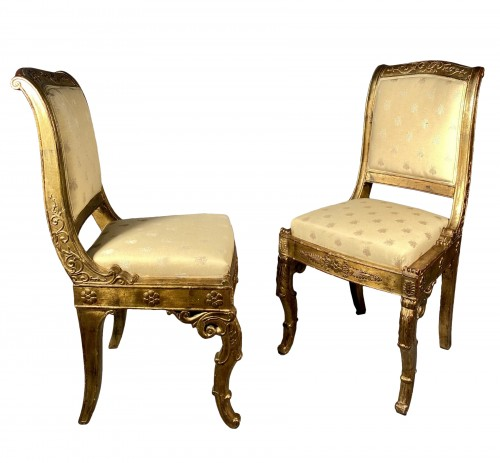 Pair of chairs for the Duchess of Berry circa 1820