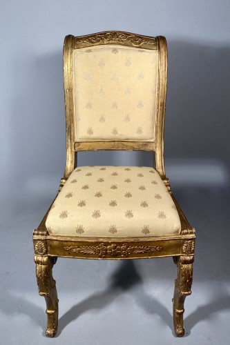 Pair of chairs for the Duchess of Berry circa 1820 -