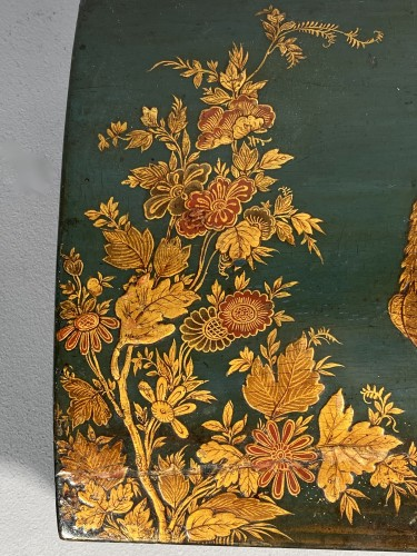 Objects of Vertu  - Toilet box in blue Martin varnish with Japanese decor circa 1730.
