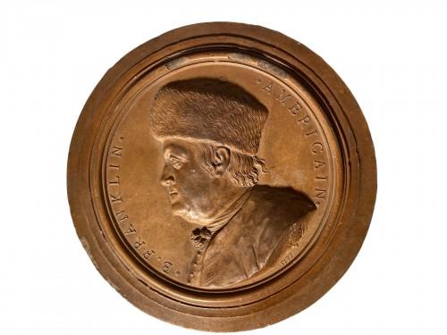 Benjamin Franklin in the Fur Hat, J.B NINI 1777