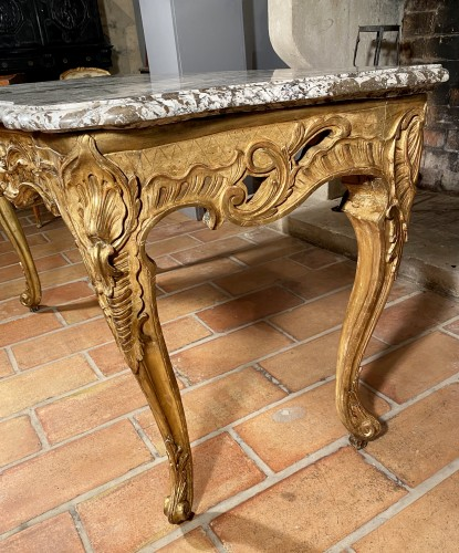 Important game table by J.F Hache, Grenoble circa 1765 - Louis XV