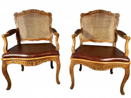 Pair of armchairs by René Cresson, Paris around 1740