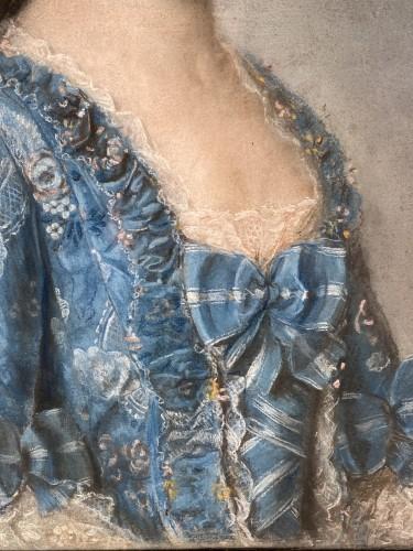 Paintings & Drawings  - Elegant couple, pair of pastels circa 1760