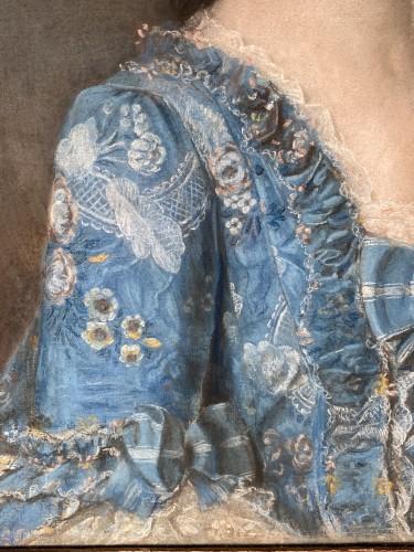 Elegant couple, pair of pastels circa 1760 -