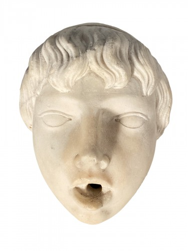 Marble fountain mask, Italy 16th century