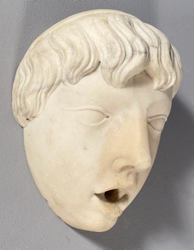 Marble fountain mask, Italy 16th century - Sculpture Style Renaissance