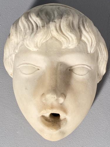 Renaissance - Marble fountain mask, Italy 16th century