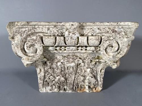 Carrara marble capital, Italy 16th century -