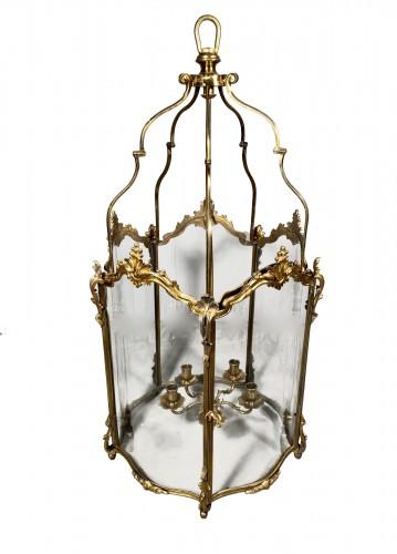 Large bronze lantern circa 1850