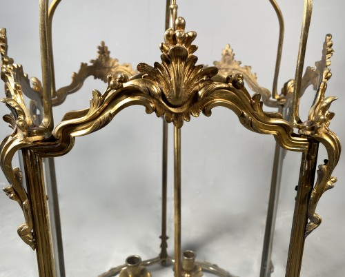 Lighting  - Large bronze lantern circa 1850