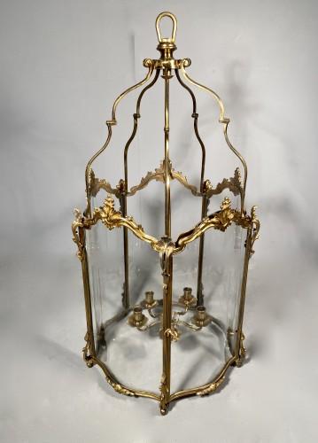 Large bronze lantern circa 1850 - Napoléon III