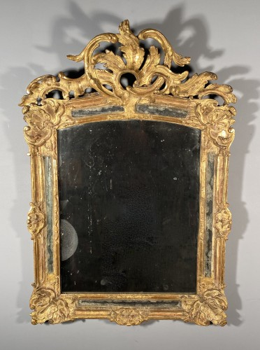 18th century - Rocaille mirror in gilded wood, Nîmes 18th century