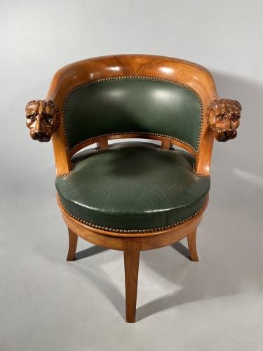 Armchairs with revolving seat, Paris circa 1810 -