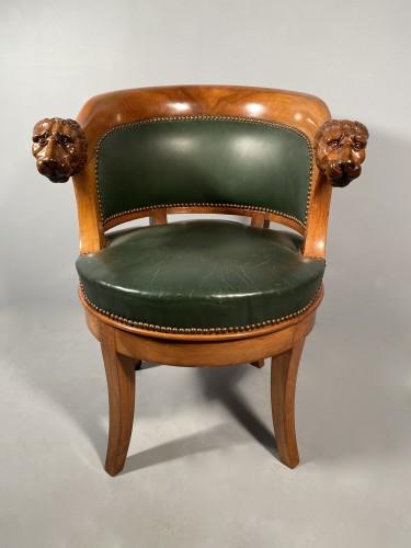 19th century - Armchairs with revolving seat, Paris circa 1810