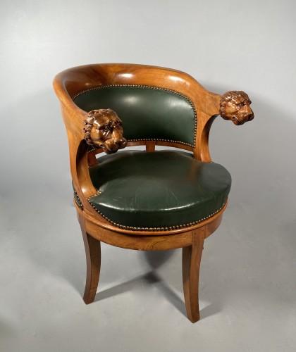 Armchairs with revolving seat, Paris circa 1810 - Empire