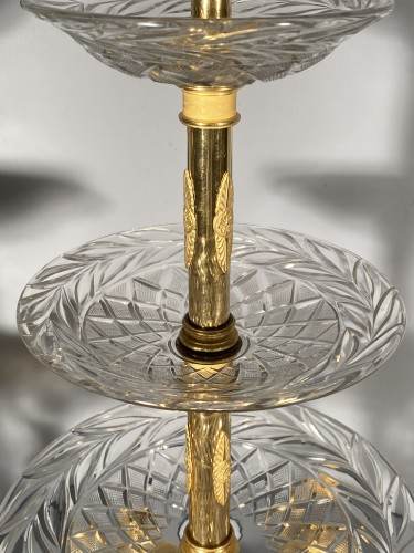 Empire - Pair of bronze and crystal cups signed Thomire circa 1810